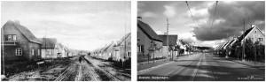 Kafé på Sockenvägen, medan tågen vände in på Åkervägen, och när tågen vände vid Skattmästarvägen.